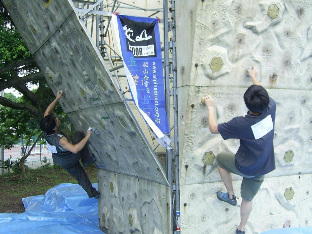 國外研究指出,抱石攀岩活動有助緩解憂鬱症狀。 報系資料照