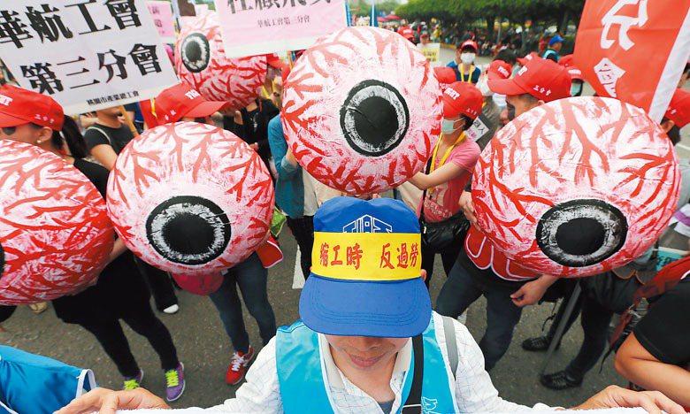 只要有左統色彩的工會行動就是不合法?或者只要將左統跟中國共產黨放在同一篇文章裡,任何勞工運動都不應該受到支持? 圖/聯合報系資料照