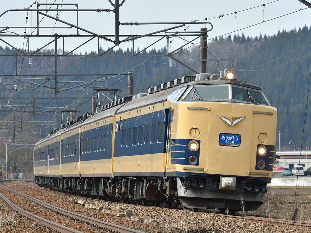 583系是全世界第一款臥鋪電車,1967年啟用後在日本運行了長達半世紀。圖為20...