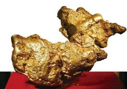1988年大陸黃金部隊發現的狗頭金,由大陸國家博物館所收藏,又因這塊狗頭金形狀酷...