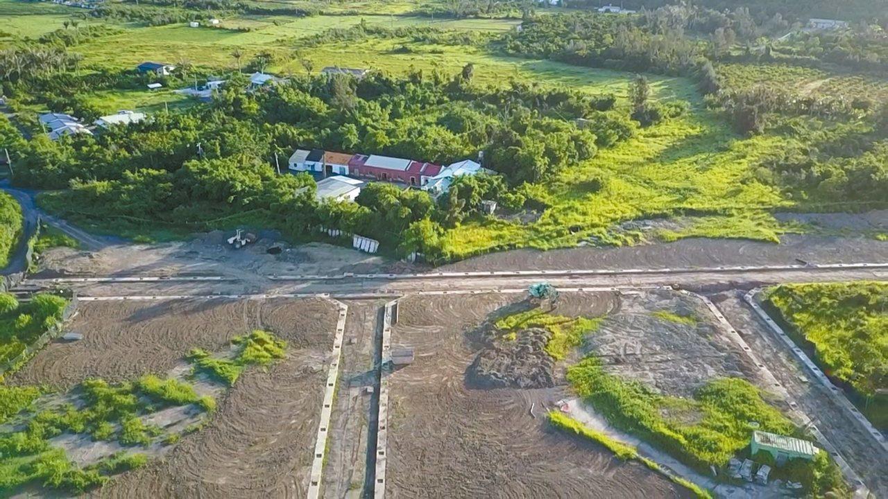 恆春張家古厝被一大片竹林包圍,從空中可一覽竹塹之美。 圖/張洧齊提供