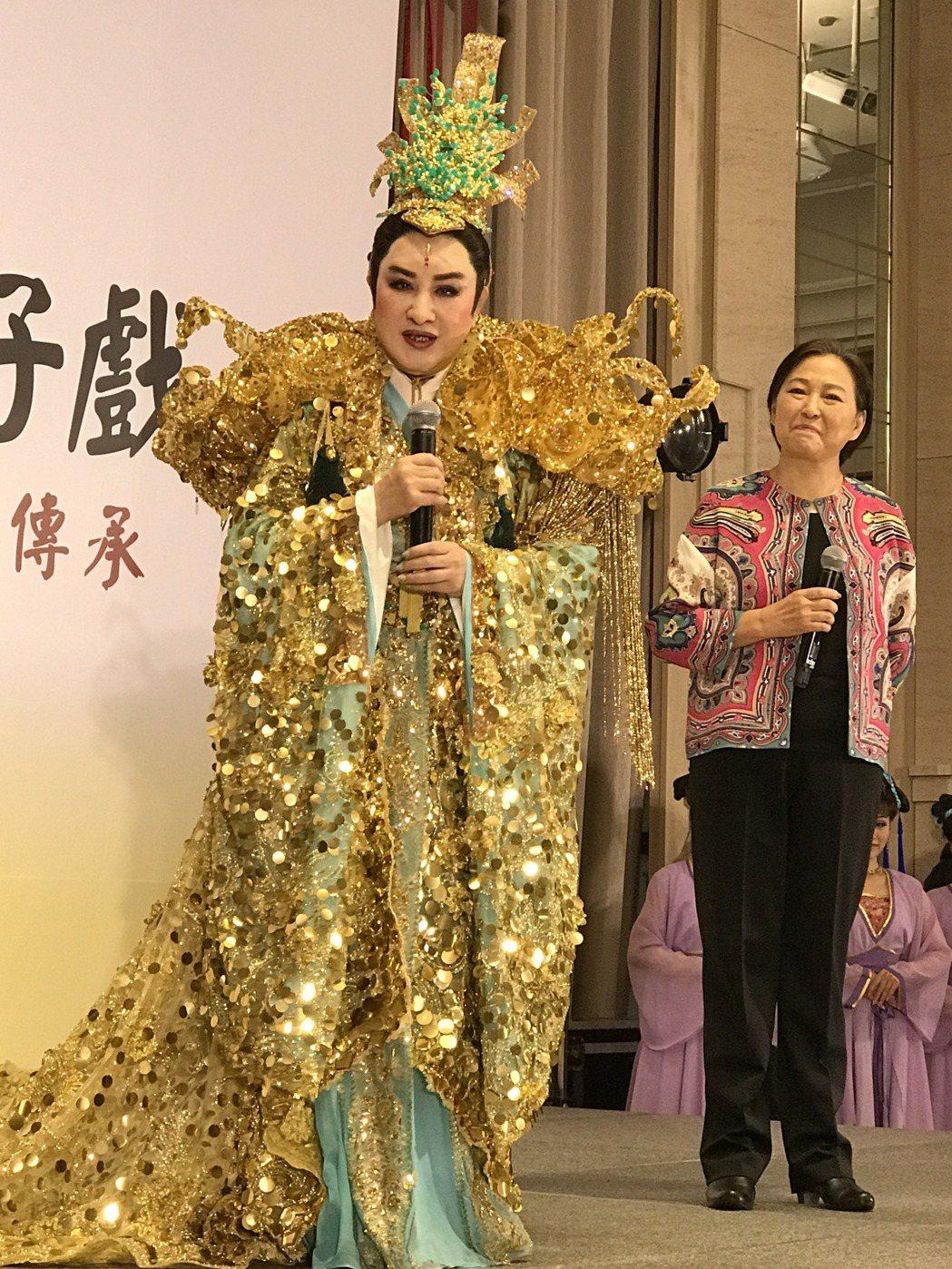 楊麗花去年宣布重出江湖,為培養接班人再度製作大型歌仔戲「忠孝節義」,今年獲文化部