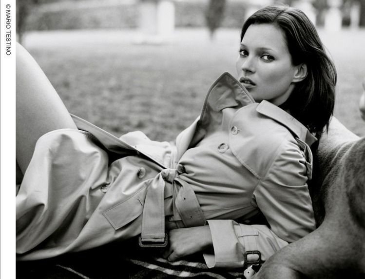 1999年,凱特摩絲入鏡BURBERRY形象廣告。圖/BURBERRY提供