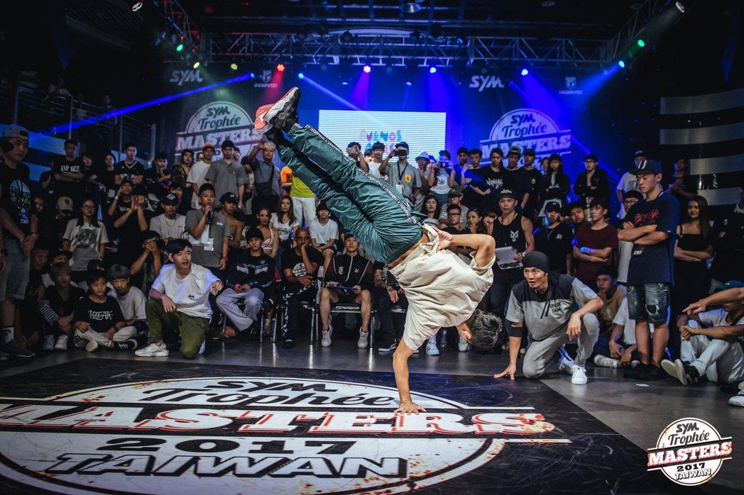Trophee Masters法國土魯斯國際霹靂舞大賽-台灣資格賽。圖/三陽SYM提供