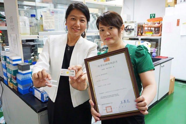林淑靜(左)回母校大葉大學分享專利經驗,將和張淑微老師(右)進一步產學合作 大葉...