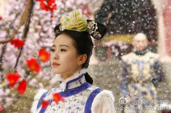 劉詩詩在「步步驚心」中的清裝扮相深入人心。圖取自微博