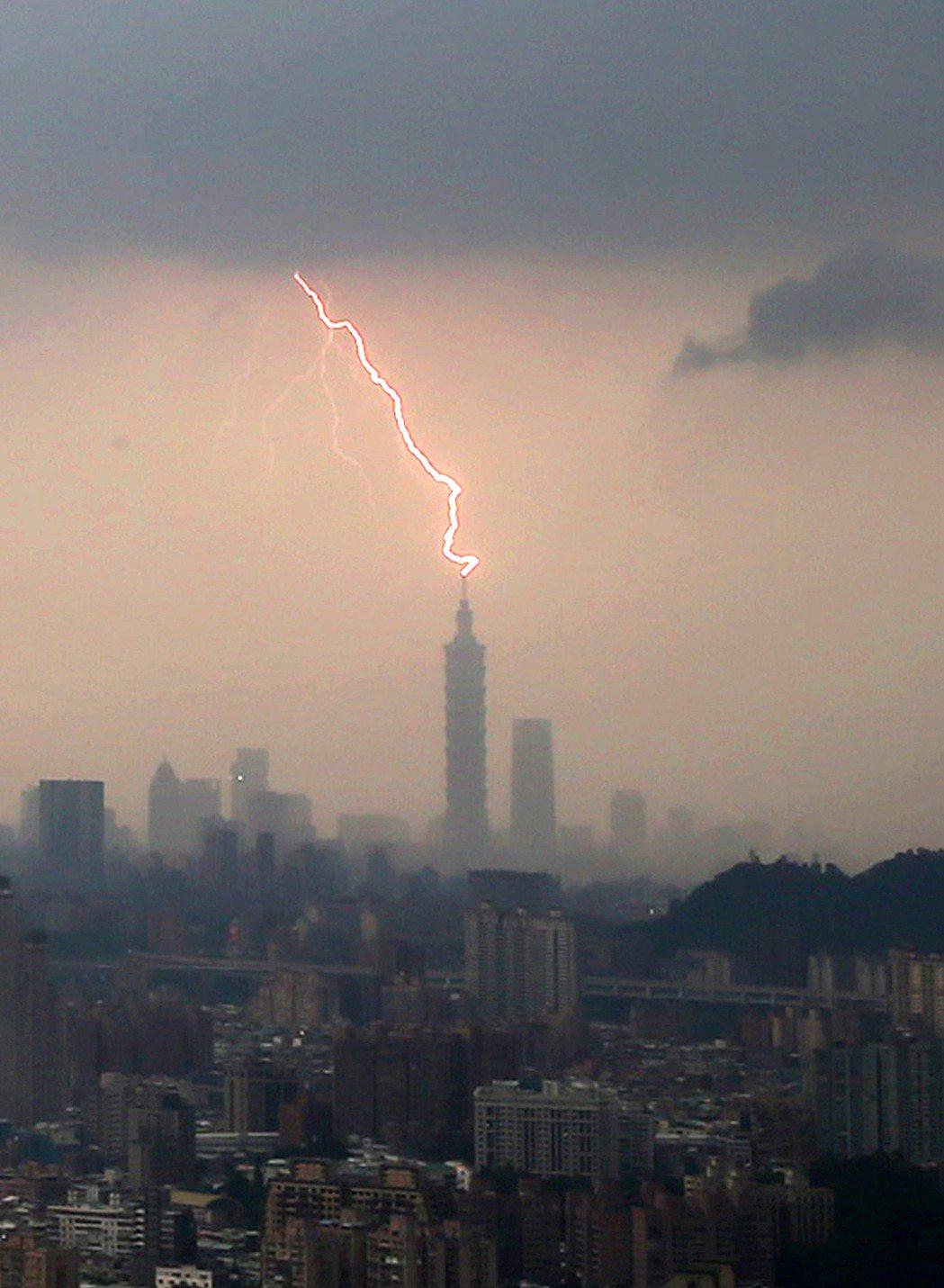 中央氣象局發布全台大雨特報,對流雲系發展旺盛,易有短時強降雨,午後下起局部大雨,...