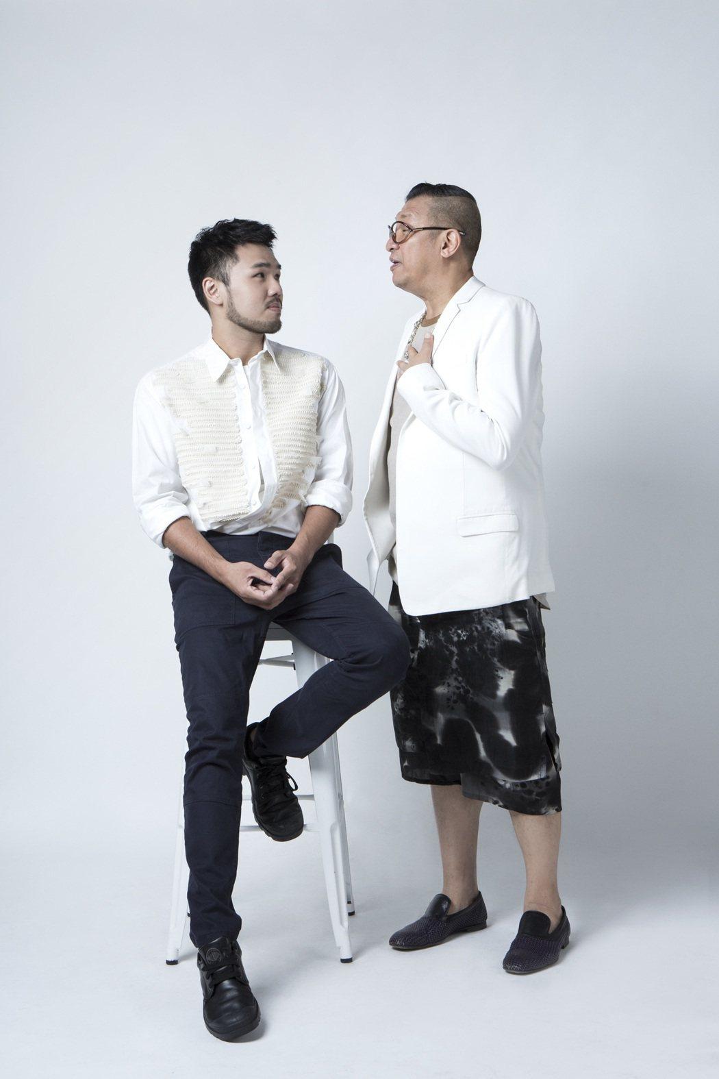 洪偉明(右)為林欣甫砸千萬打造新形象。圖/凱渥提供