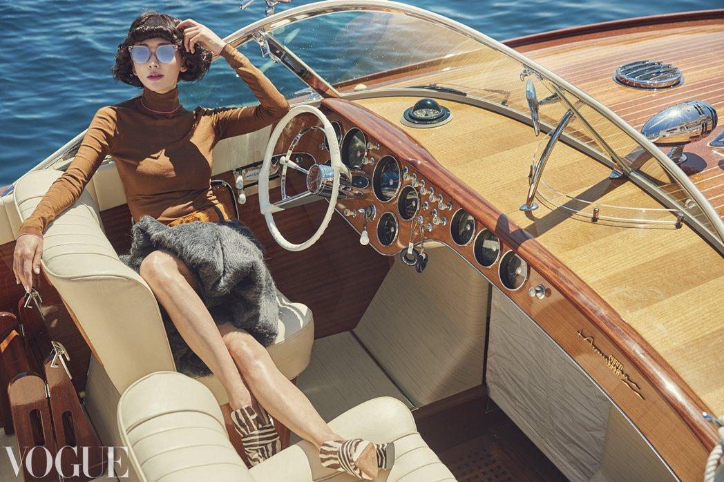 林志玲赴摩納哥為雜誌拍攝封面。圖/VOGUE提供