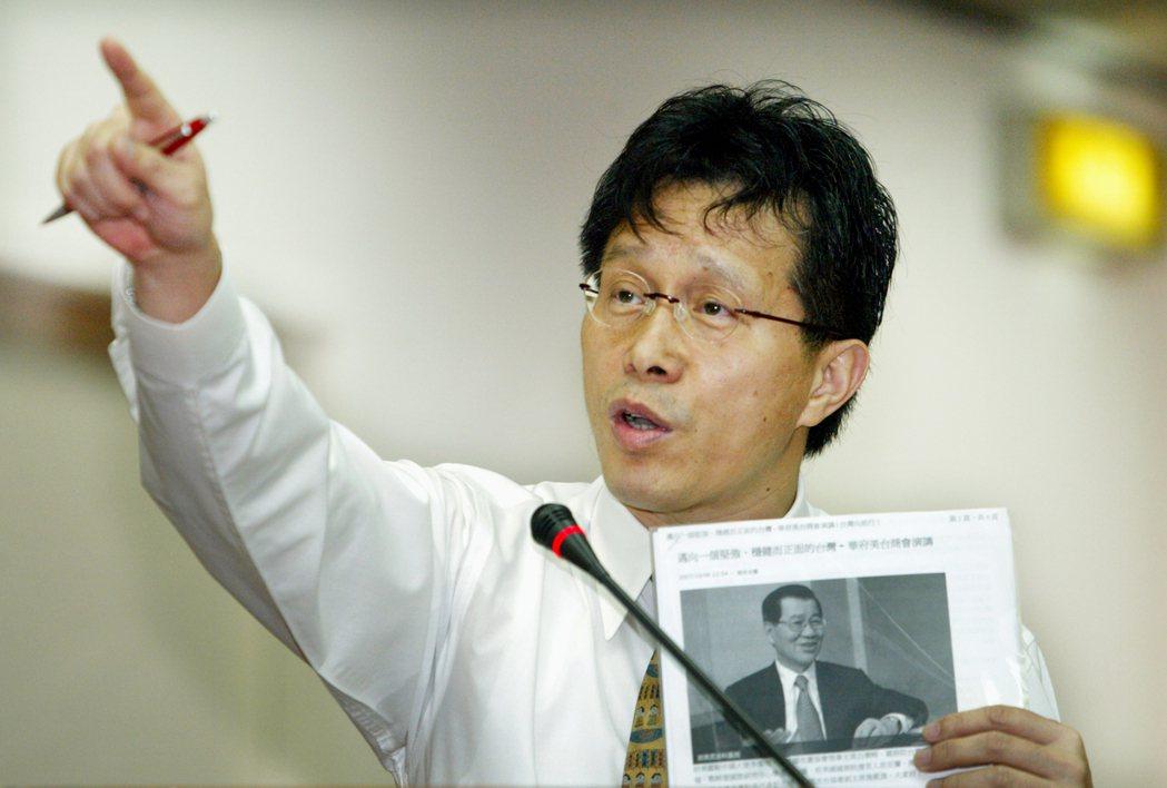 謝志偉發言辛辣,曾被前高雄縣長楊秋興批評是「小丑」。 圖/報系資料照
