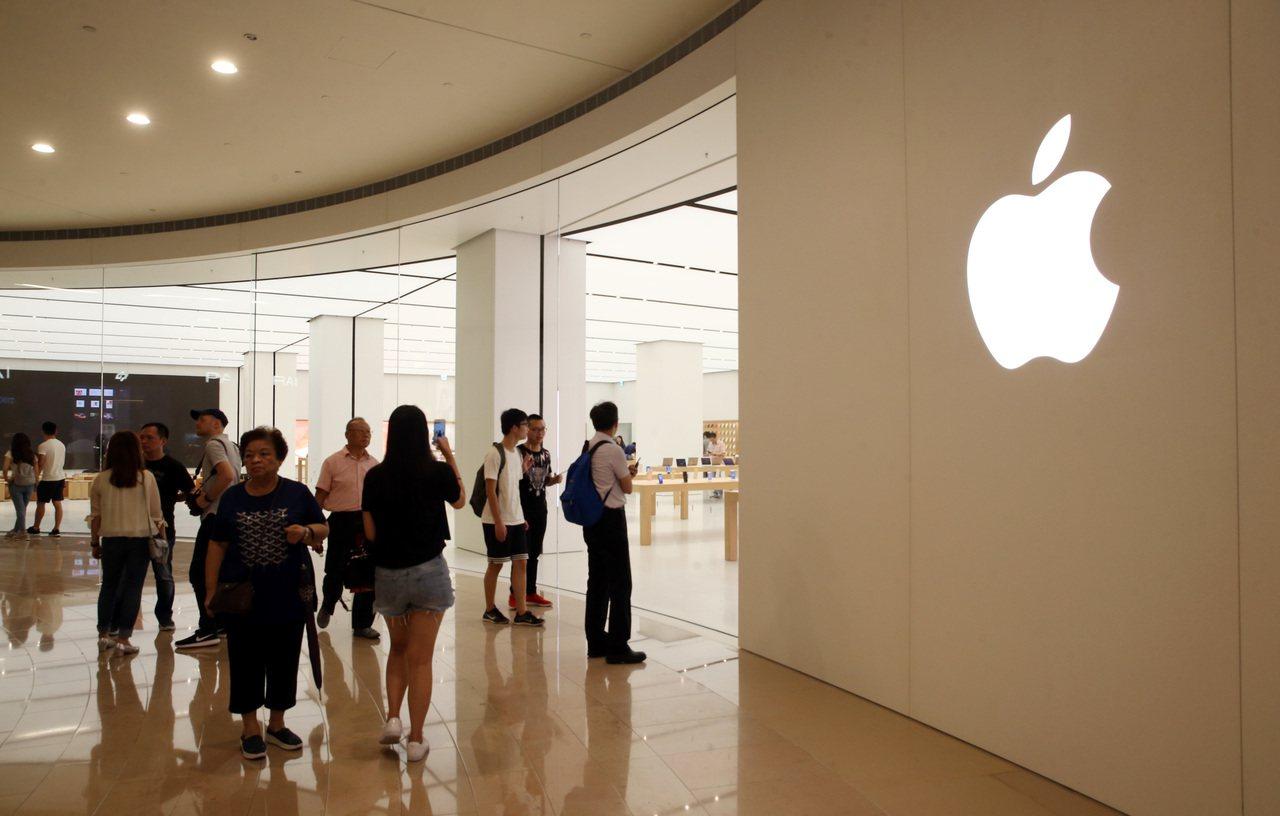 示意圖。圖為台北101的台灣首間蘋果直營店Apple Store。 報系資料照