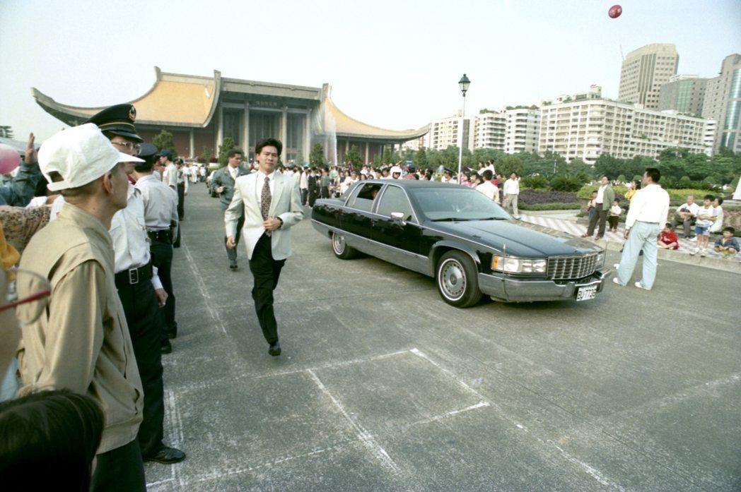 1995年李登輝前總統的凱迪拉克座車。 報系資料照