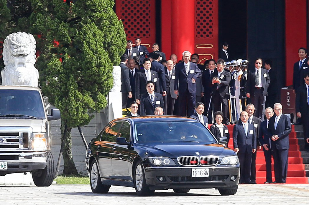 2015年馬英九前總統的BMW座車。 報系資料照
