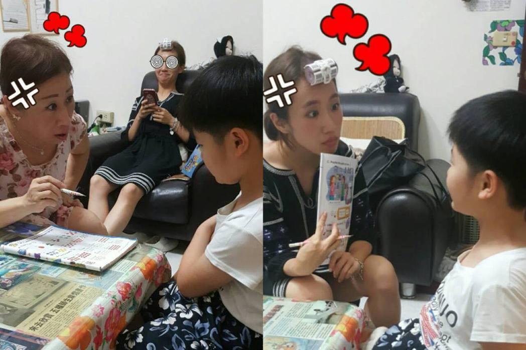 Lulu在臉書分享自己與媽媽教學時的照片。 圖/擷自臉書