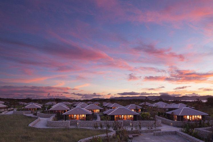 虹夕諾雅竹富島的景緻。圖/星野集團提供