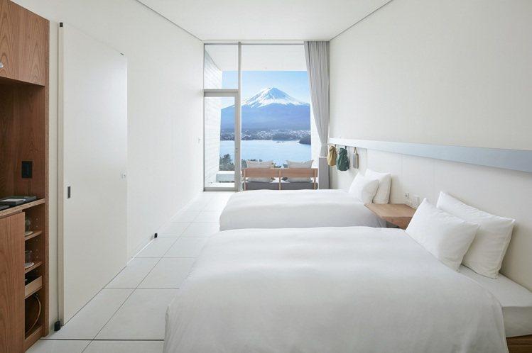虹夕諾雅富士有度假的氛圍。圖/星野集團提供
