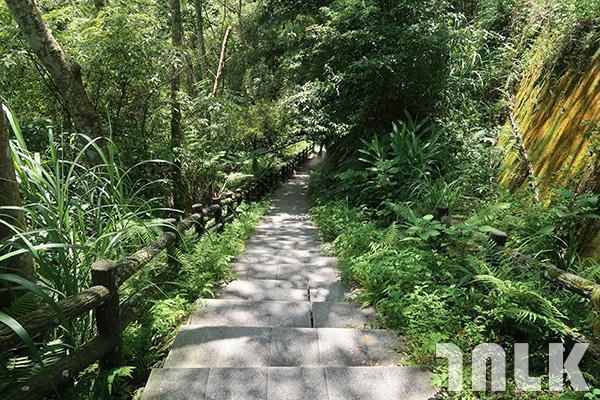 ▲後段步道往下,到清涼的溪谷。