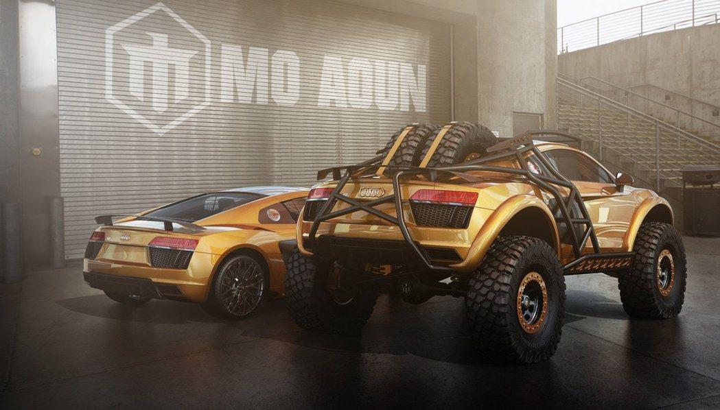 越野造型的Audi R8合成圖。圖/摘自moaountoyota.weebly.com