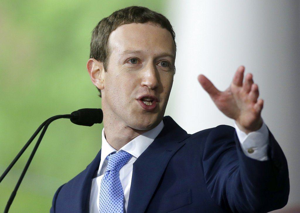 臉書創辦人祖克柏,近日許多活動都令人聯想他要參選總統。 (美聯社)