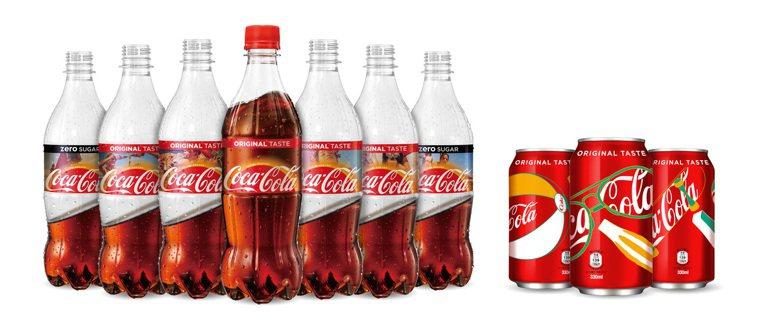 可口可樂有寶特瓶和鋁罐兩種包裝。圖/可口可樂提供