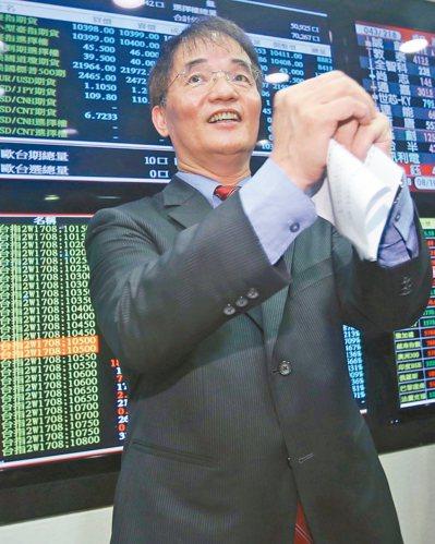 有關3日台股期貨及小型臺指期貨開盤一分鐘內出現跌停價事件,期交所董事長劉連煜上午...