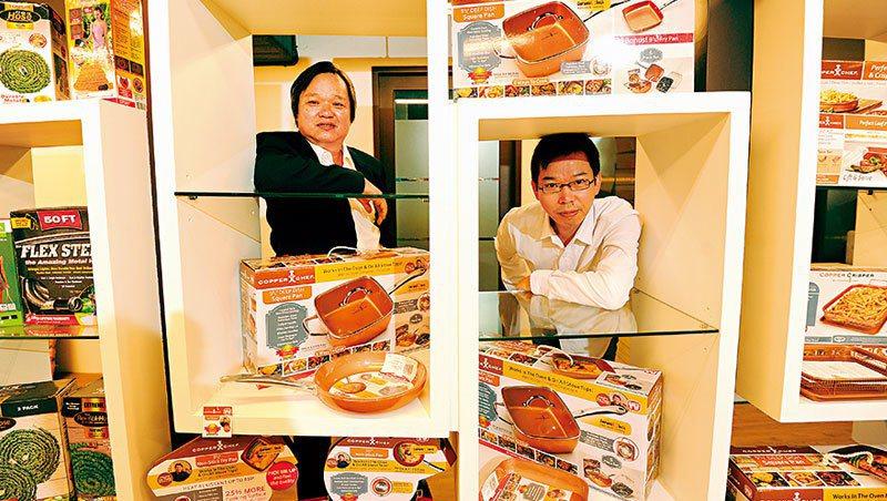 凱羿董事長蔡謀燦與弟弟、產品總經理蔡謀賦(右) 都是公司產品研發的靈魂人物。像這...