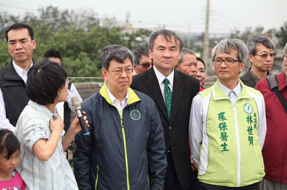 副總統陳建仁到彰化縣,林世賢抓住機會表達反空汙的重要性。 圖/林世賢提供