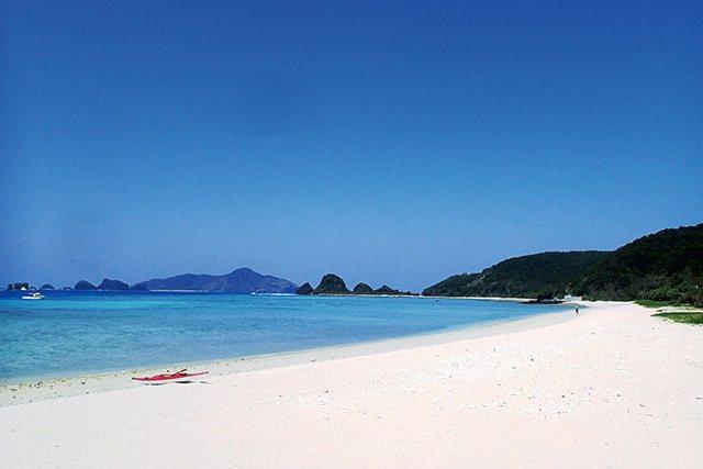 座間味島阿真ビーチ/座間味島上人氣第2的阿真海灘,以海龜的棲息地聞名,保留沖著繩...