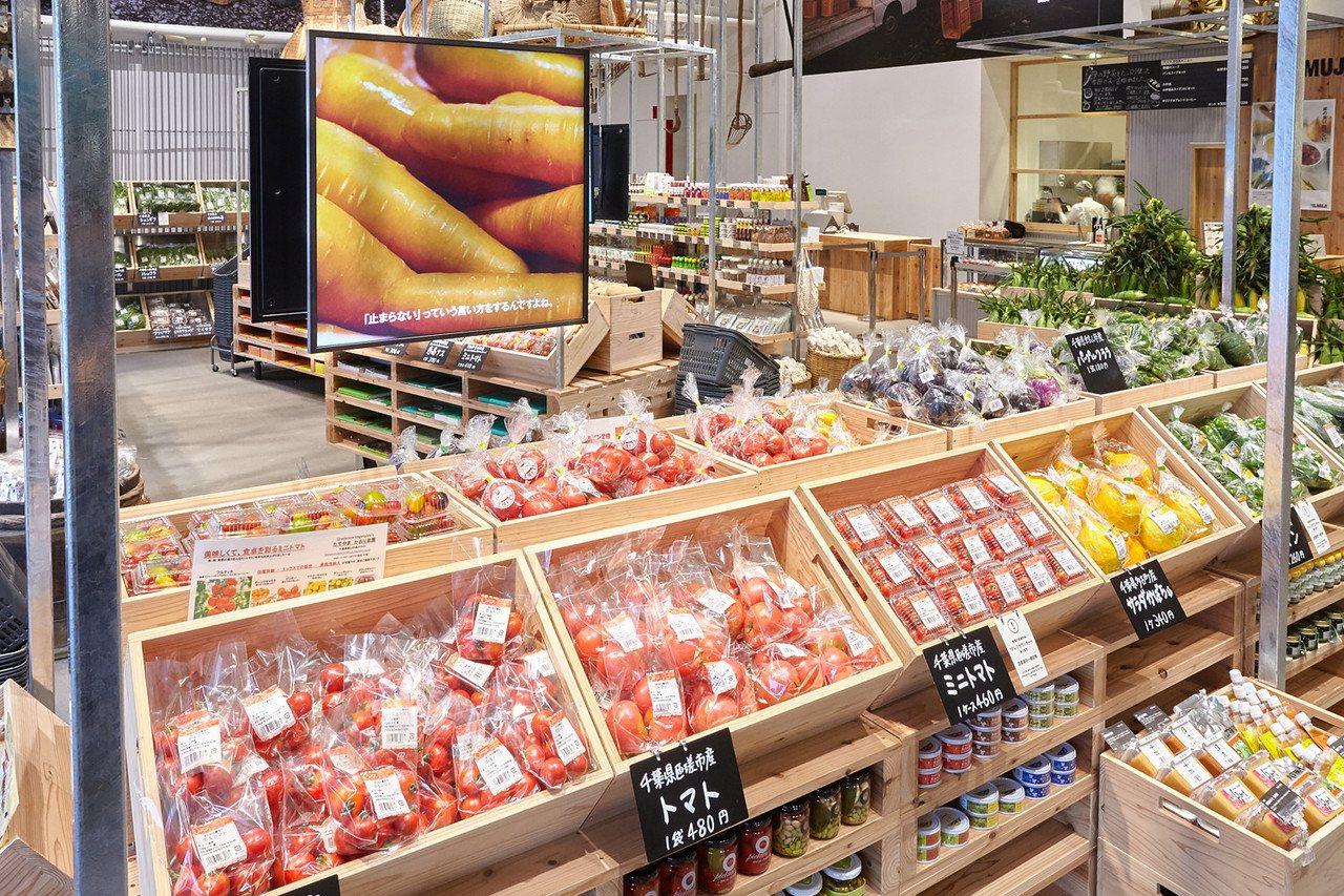 無印良品首間蔬果市場在東京有樂町開幕。圖/無印良品提供