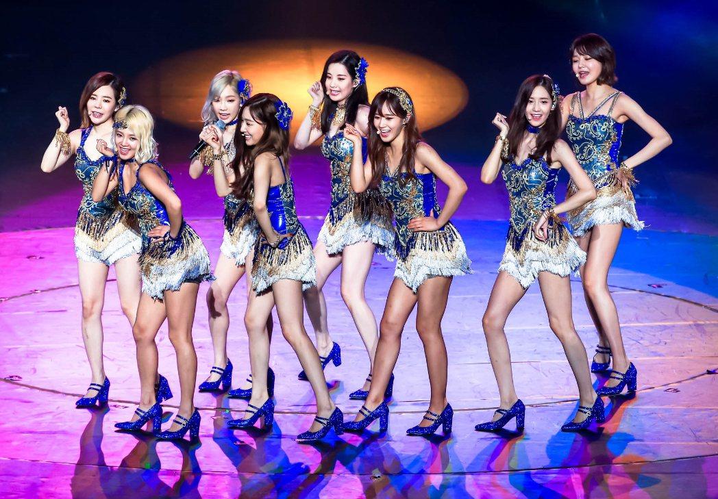 南韓女團「少女時代」。 聯合報系資料照片/記者林伯東攝影