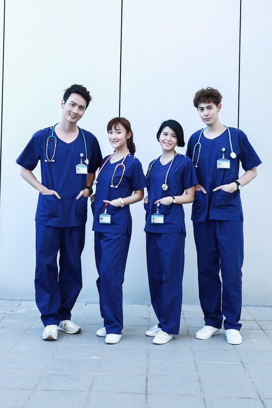 「實習醫生鬥格」由張捷(左起)、夏宇禾、林柏妤、SpeXial-Teddy主演。...
