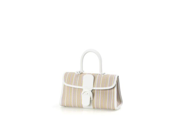 Brillant寬版彩虹編織牛皮手提包,售價19萬1,900元。圖/DELVAU...
