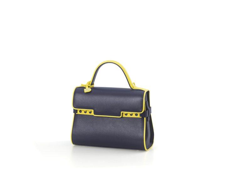 Tempete湛藍色illusion小型牛皮手提包,售價17萬1,300元。圖/...