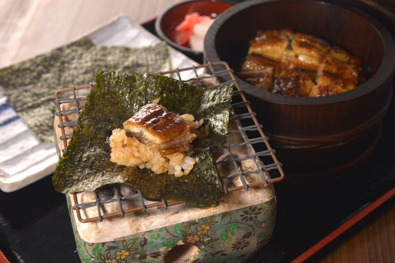 鰻魚桶飯二吃390元。圖/大漁餐飲提供