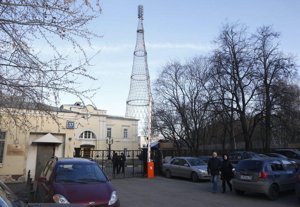俄國莫斯科的一座廣播塔。 (歐新社)