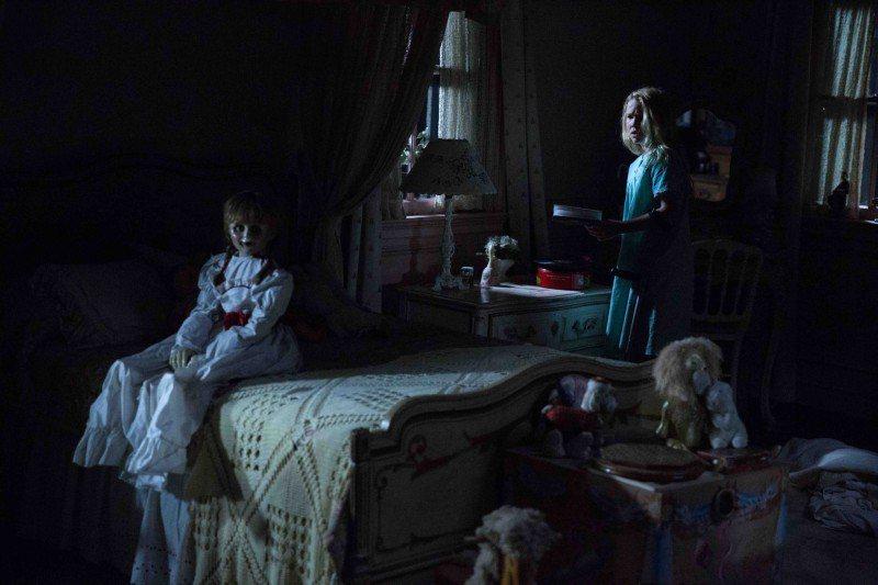 電影「安娜貝爾:造孽」還未上映就造成轟動。圖/華納兄弟影業提供