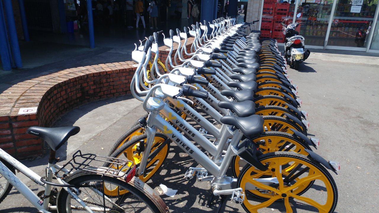 來自美國的「V Bikes」8月初在宜蘭投放,目前僅車體亮相,還沒有借還服務。記...