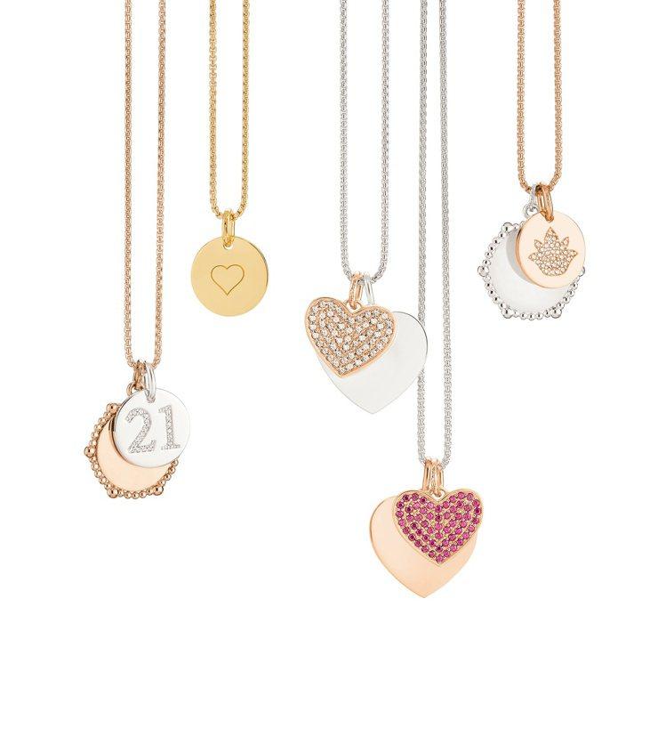 Love Coins系列純銀項鍊。圖/THOMAS SABO提供