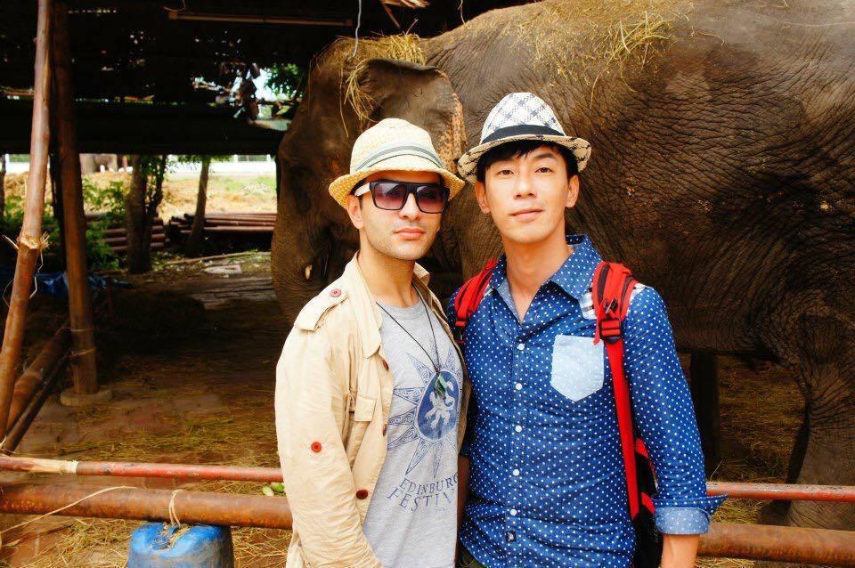 韋佳德(左)曾和張善為一起合作外景節目。圖/摘自韋佳德臉書