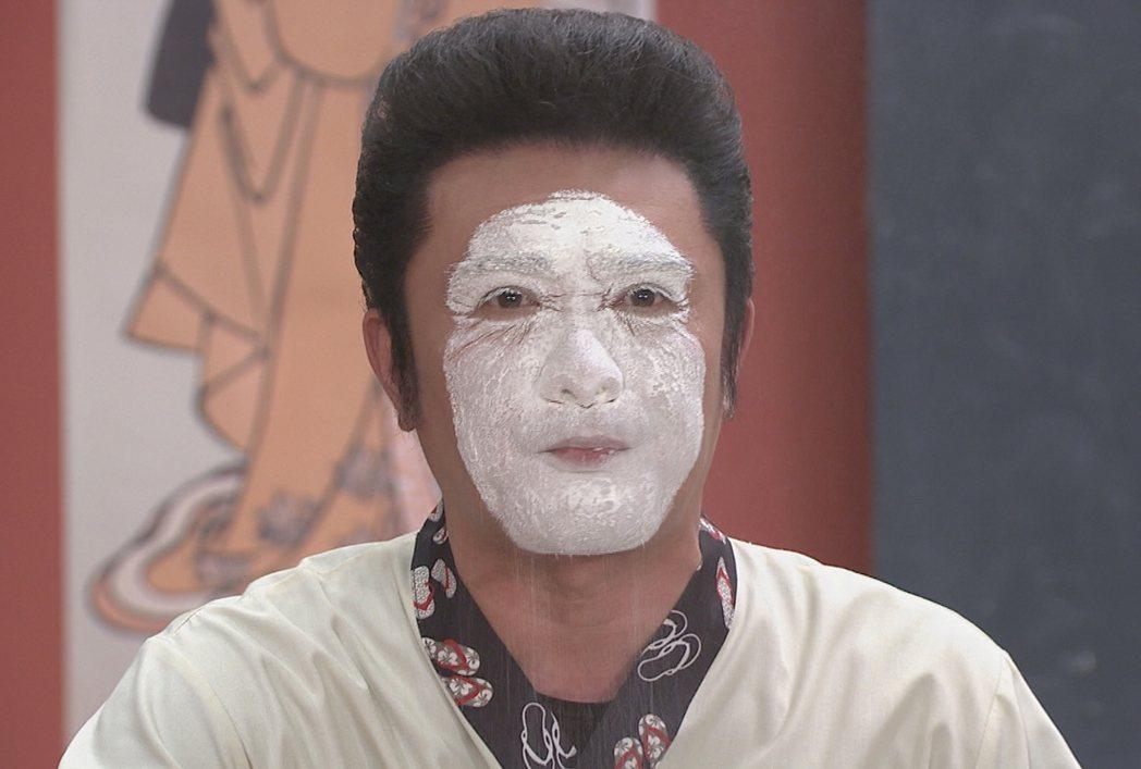 李㼈演出「牡丹花開」搞笑犧牲,撞臉無臉男。圖/台視提供