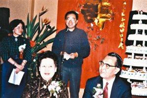 羅青在林海音先生壽宴上致賀詞。 ◎羅青 圖.提供
