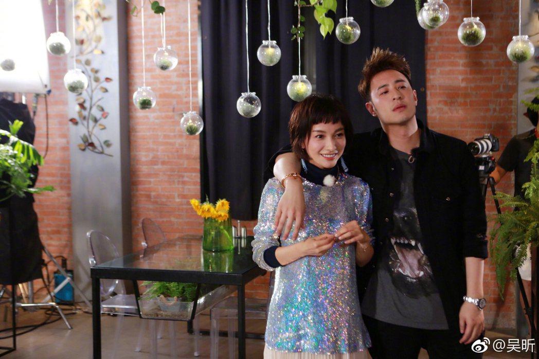 潘瑋柏和大陸女星吳昕在陸綜「我們相愛吧」是一對,「小倆口」頗受觀眾喜愛。 圖/擷...