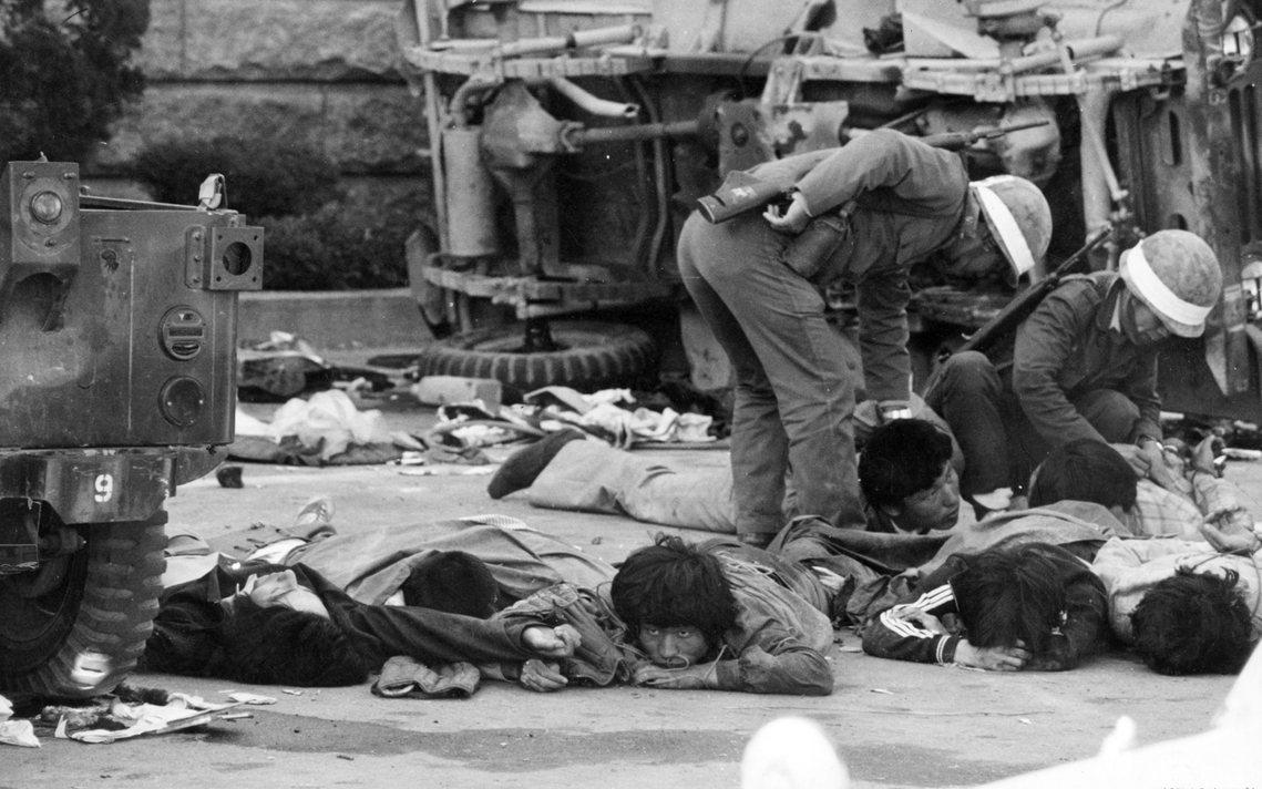 光州的流血鎮壓持續了十日,但對內全斗煥政府卻宣稱:「光州騷亂是親北韓的共產黨叛亂...