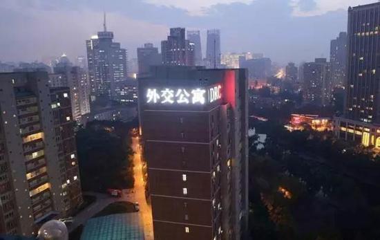亮馬橋的外交公寓。 圖/取自微信公眾號政知見