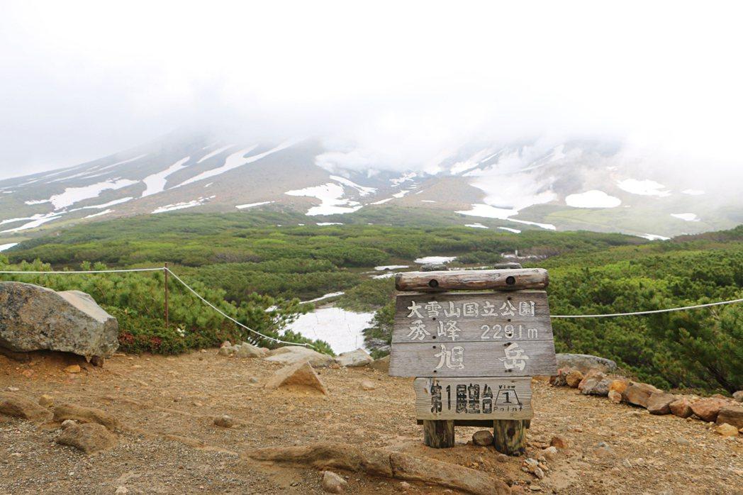 旭岳第一展望台,緩緩行走約10至15分鐘即可抵達。記者沈佩臻/攝影