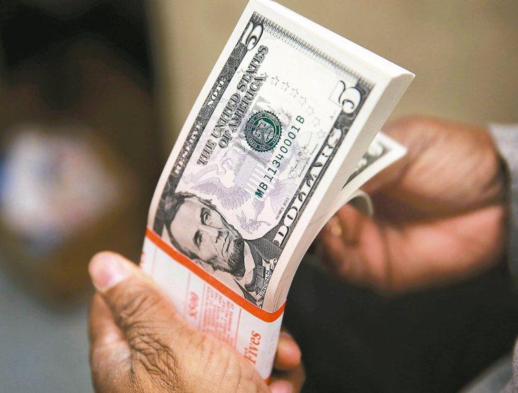 美元指數昨日創今年最大漲幅,帶動國內掛牌美元指數ETF人氣升溫。 本報系資料庫