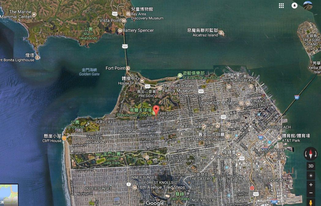 華裔夫婦2015年以9萬美元,買下舊金山最富有的街道。 (取自谷歌地圖)