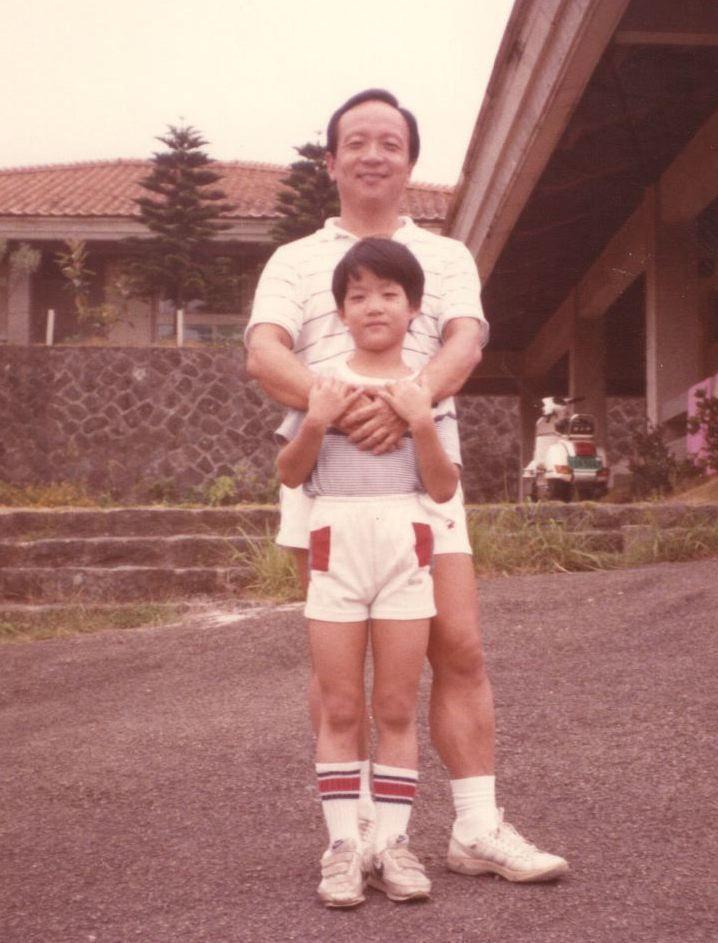 蔣萬安說,跟爸爸的相處就像好朋友。蔣萬安/提供