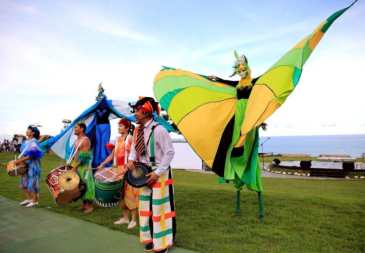 「身聲劇場」在「月光‧海」音樂會的演出,展現身體與聲音的精采律動