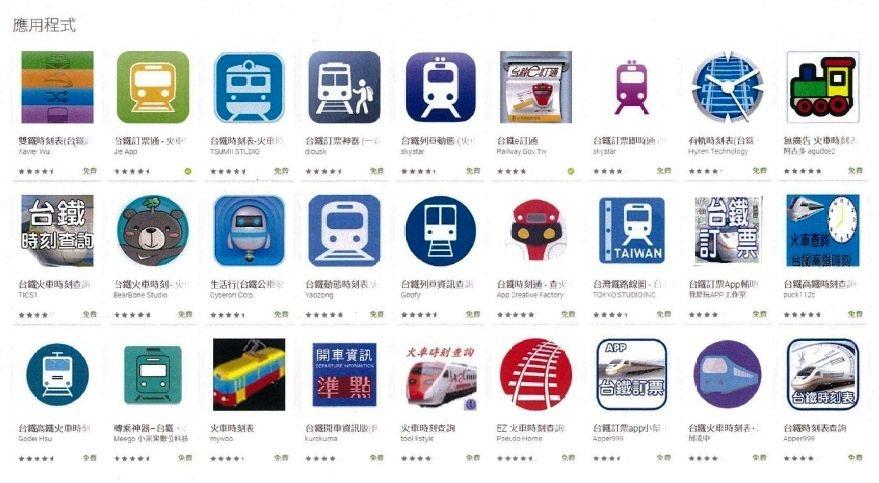 坊間有許多民間業者開辟的台鐵訂票app。圖/台鐵局供給